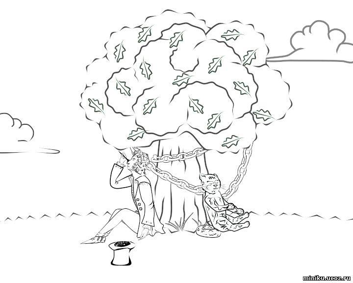 Раскраски по Сказке о мертвой Царевне и семи богатырях